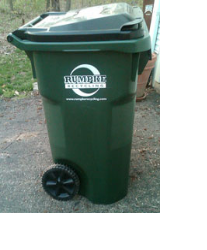 Photo of the recycling cart